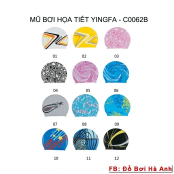 Mũ bơi Yingfa họa tiết C0062B