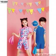Bộ liền đùi trẻ em Yingfa kéo khóa 0359