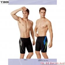 Quần bơi gối Yingfa đen vảy mờ 3808
