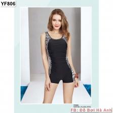 Bộ liền đùi Yingfa đen vát trắng YF806