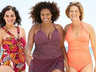 Áo bơi sặc sỡ cho những cô nàng béo