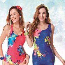 Áo bơi nữ  Yingfa vàng xanh Y1665