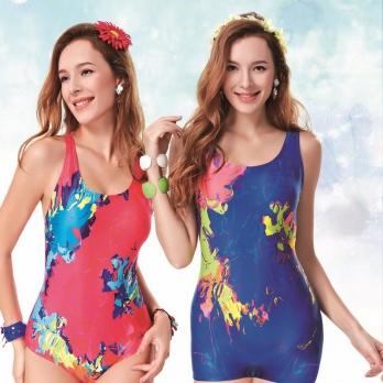 Áo bơi nữ  Yingfa xanh hồng Y1633
