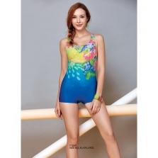 Áo bơi nữ  Yingfa hoa hồng xanh Y1669