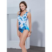 Áo bơi nữ  Yingfa họa tiết hoa xanh trắng Y1717