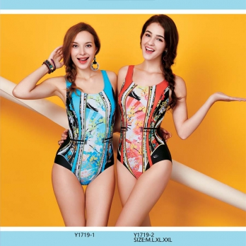 Áo bơi nữ  Yingfa họa tiết lá Y1719