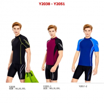 Áo bơi cộc tay 3 màu