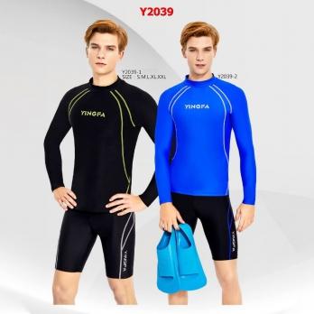 Áo bơi nam tay dài 2 màu