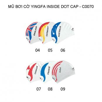 Mũ bơi Yingfa họa tiết cờ - INSIDE DOT CAP