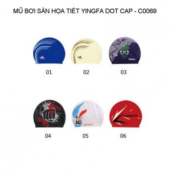 Mũ bơi Yingfa hoa văn sần - DOT CAP C0069