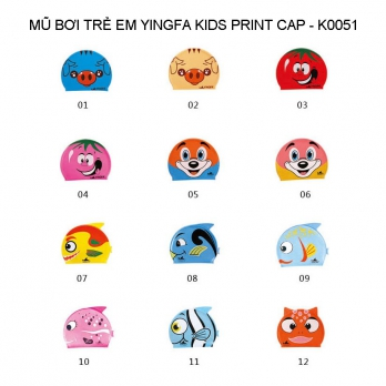 Mũ bơi Yingfa trẻ em - KIDS PRINT CAP