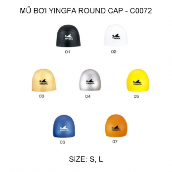 Mũ bơi Yingfa trơn - ROUND CAP