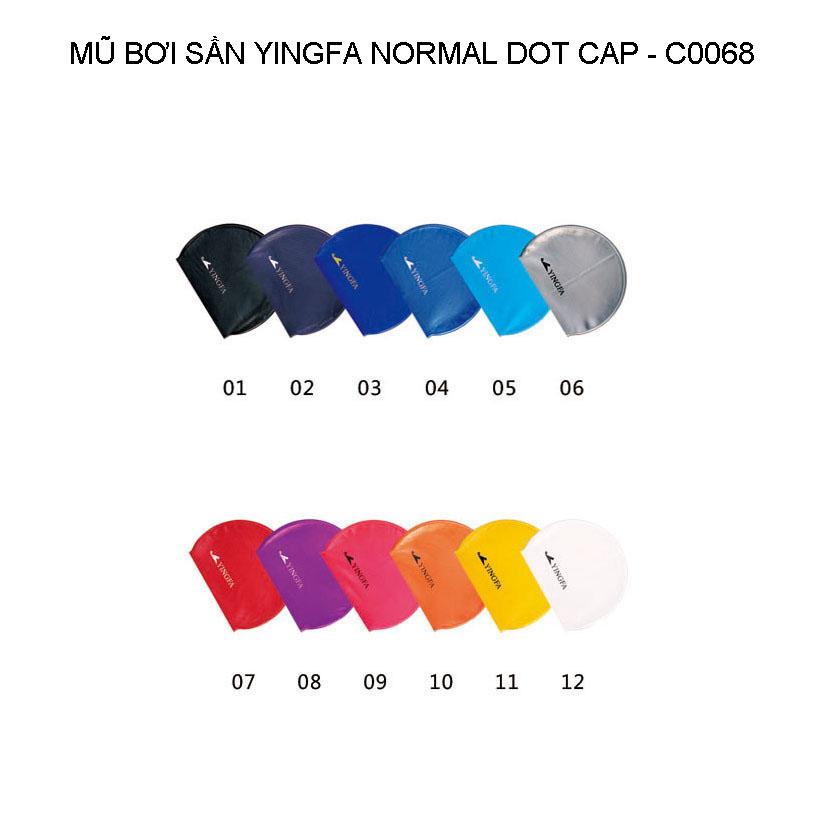 Mũ bơi Yingfa trơn sần - NORMAL DOT CAP C0068